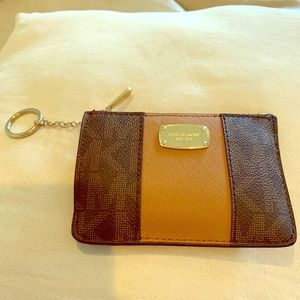 Michael kors wallet with a key chain